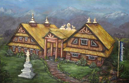 Proposed Sherab Chamma Ling (Painted by Colleen Jay)
